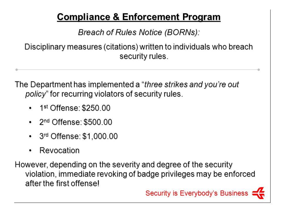 Compliance & Enforcement Program