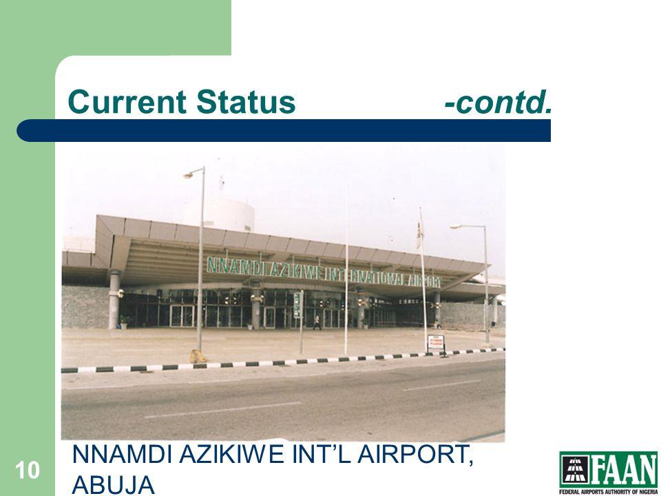 FAAN Current Status -contd. NNAMDI AZIKIWE INT'L AIRPORT, ABUJA
