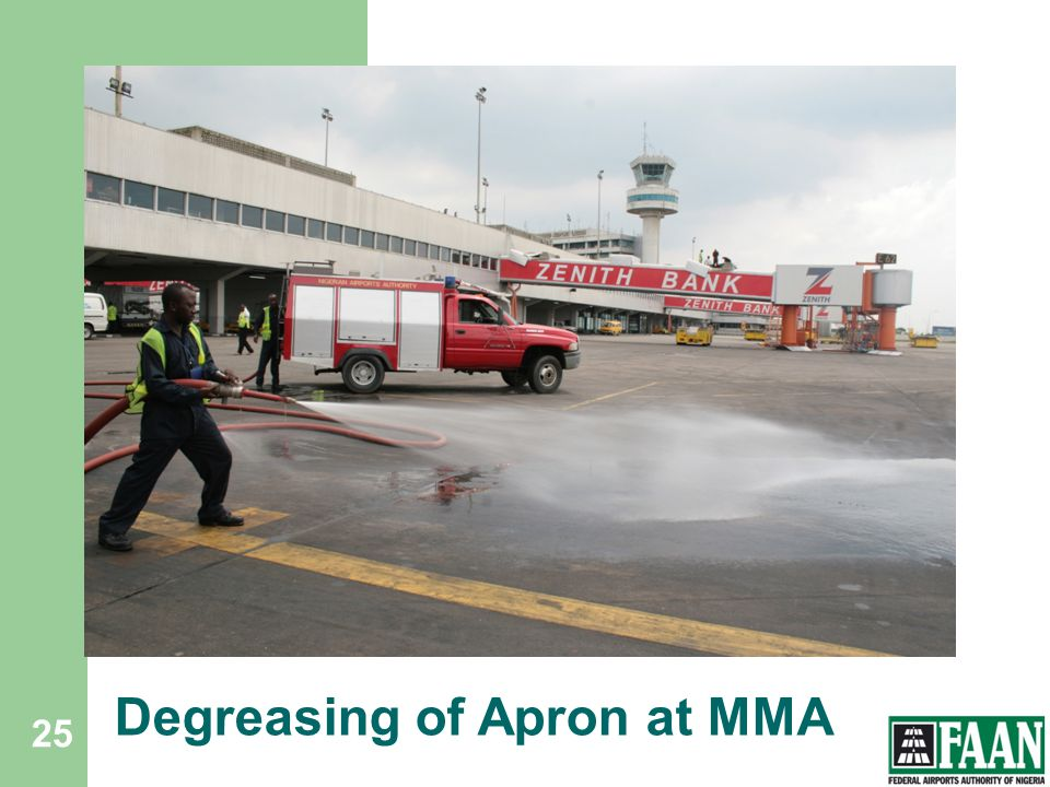 Degreasing of Apron at MMA