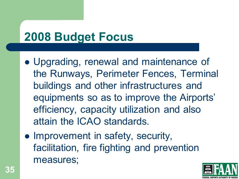 FAAN 2008 Budget Focus.