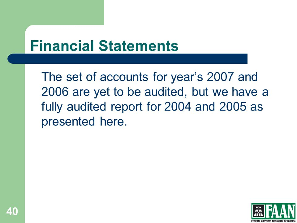 FAAN Financial Statements.