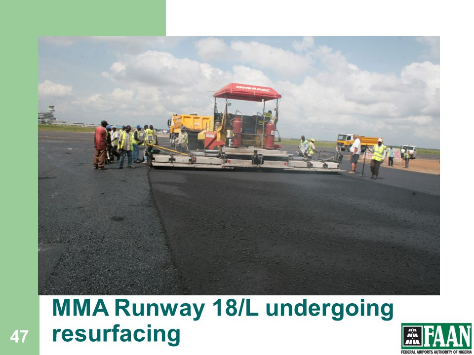 MMA Runway 18/L undergoing resurfacing