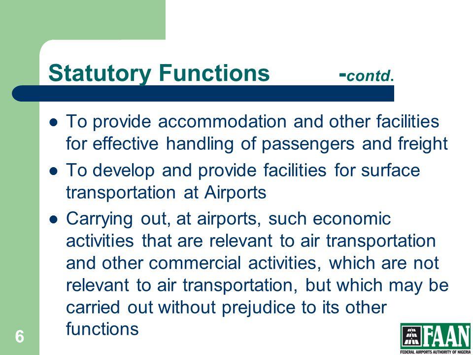 Statutory Functions -contd.