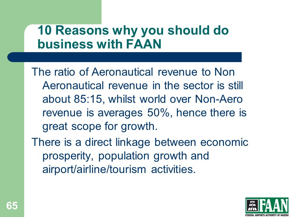10 Reasons why you should do business with FAAN