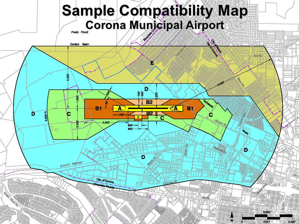 Sample Compatibility Map Corona Municipal Airport