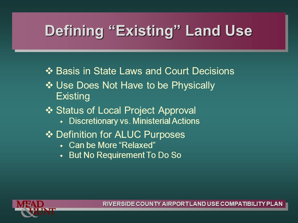 Defining Existing Land Use