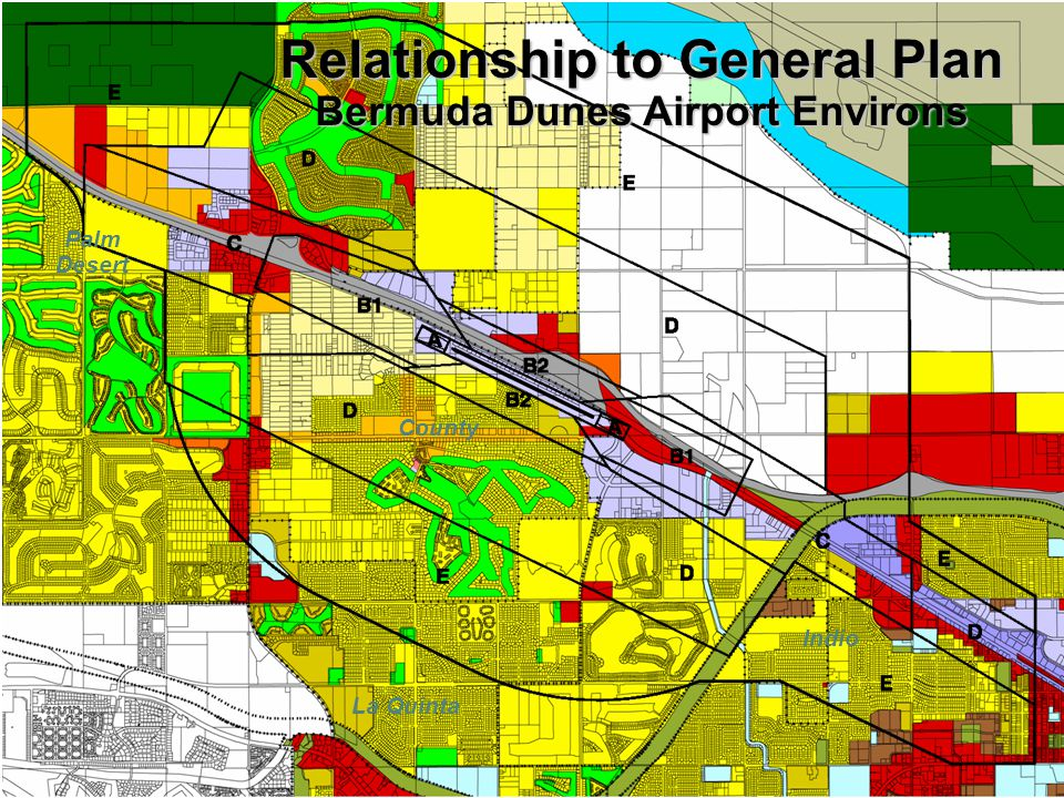 Relationship to General Plan Bermuda Dunes Airport Environs