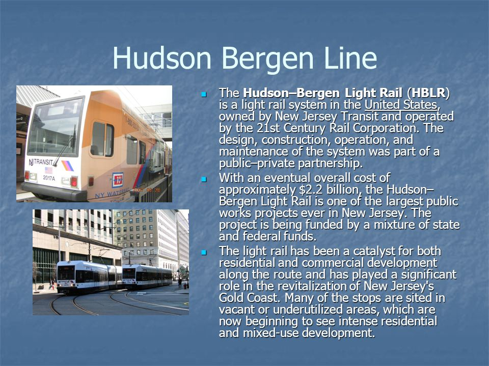 Hudson Bergen Line