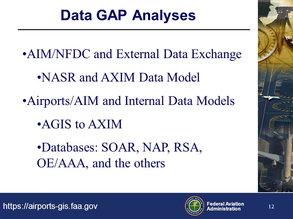 Data GAP Analyses AIM/NFDC and External Data Exchange