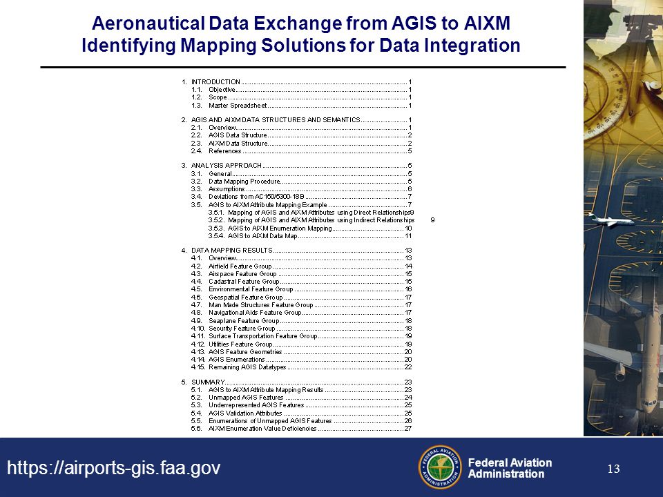 Aeronautical Data Exchange from AGIS to AIXM Identifying Mapping Solutions for Data Integration
