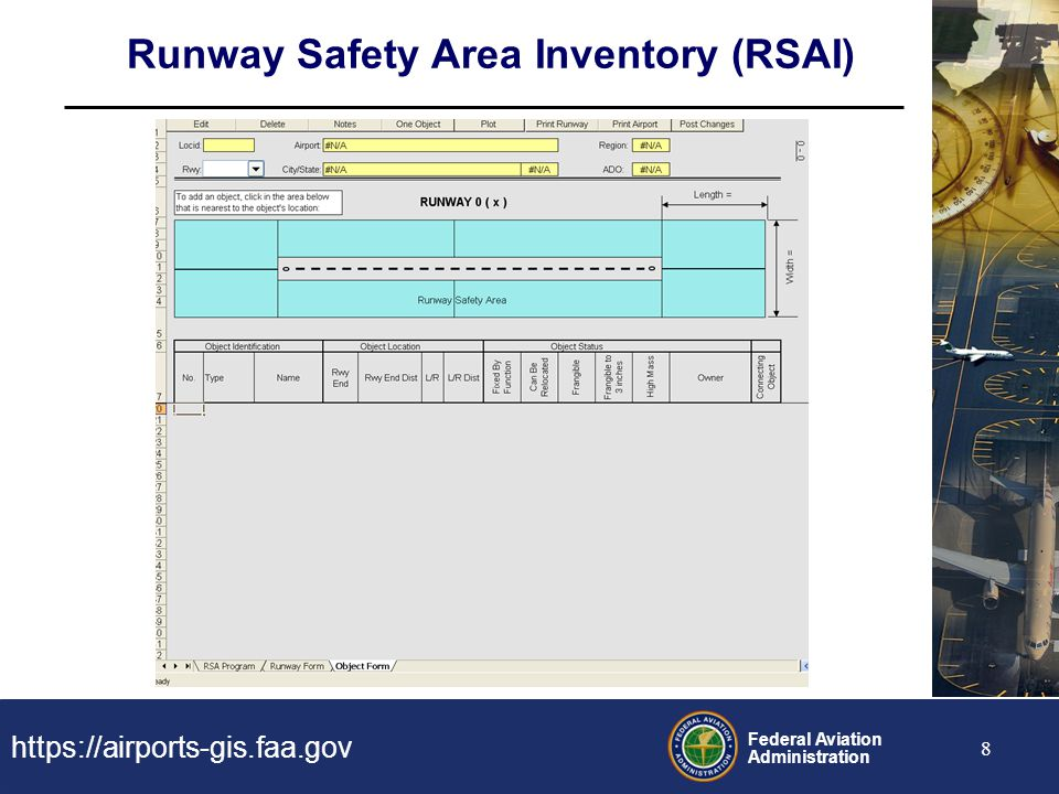 Runway Safety Area Inventory (RSAI)