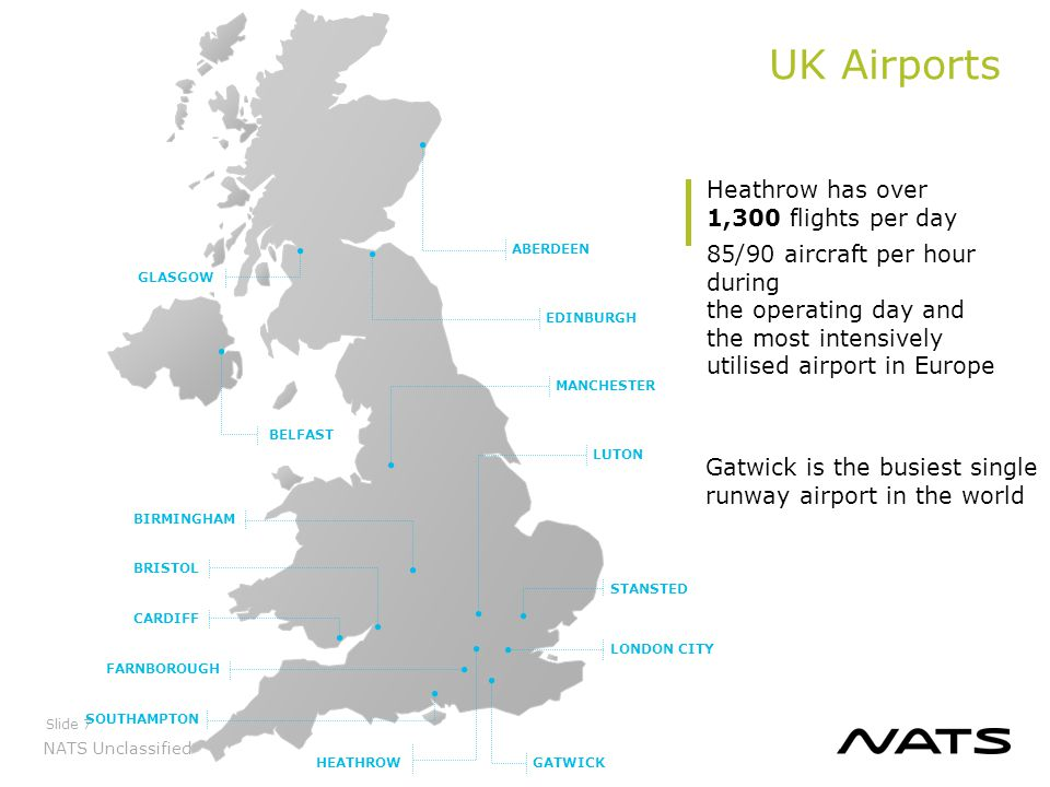 UK Airports Heathrow has over 1,300 flights per day
