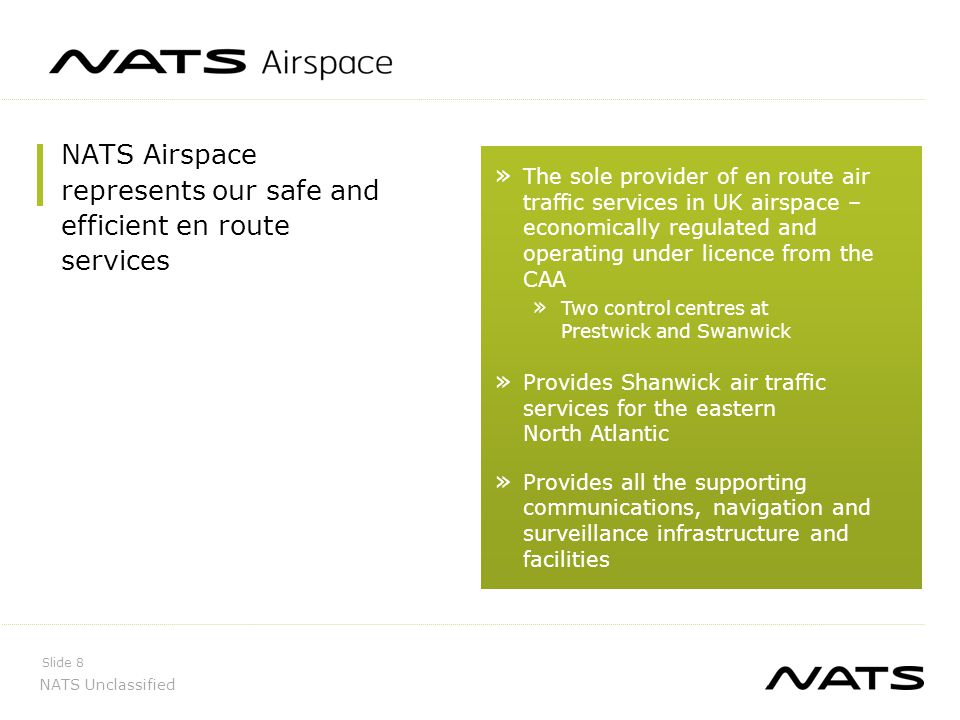 NATS Airspace represents our safe and efficient en route services