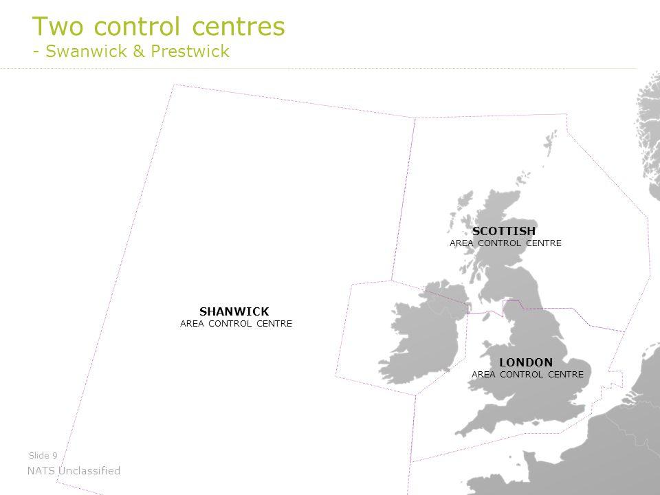 Two control centres - Swanwick & Prestwick