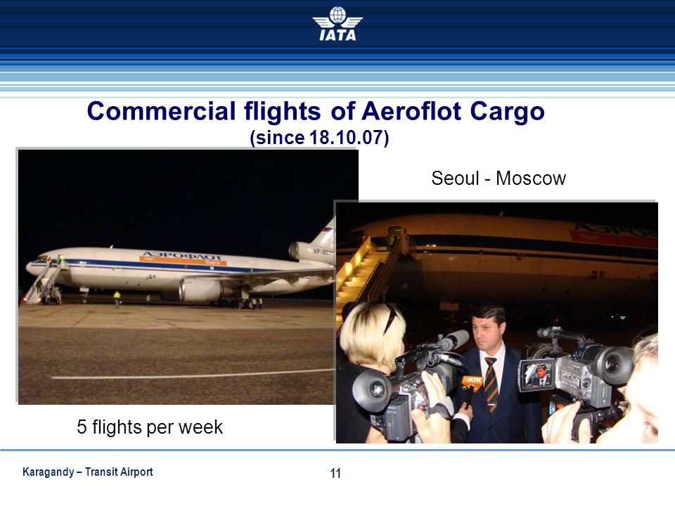 Commercial flights of Aeroflot Cargo