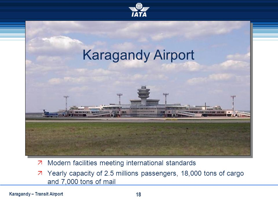Karagandy Airport Modern facilities meeting international standards