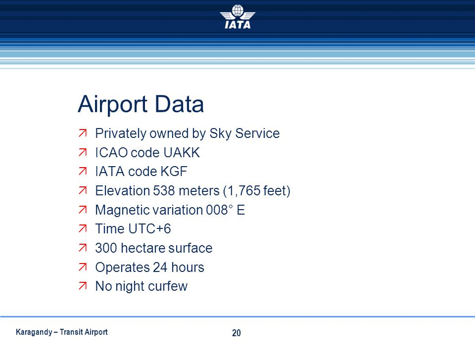 Airport Data Privately owned by Sky Service ICAO code UAKK