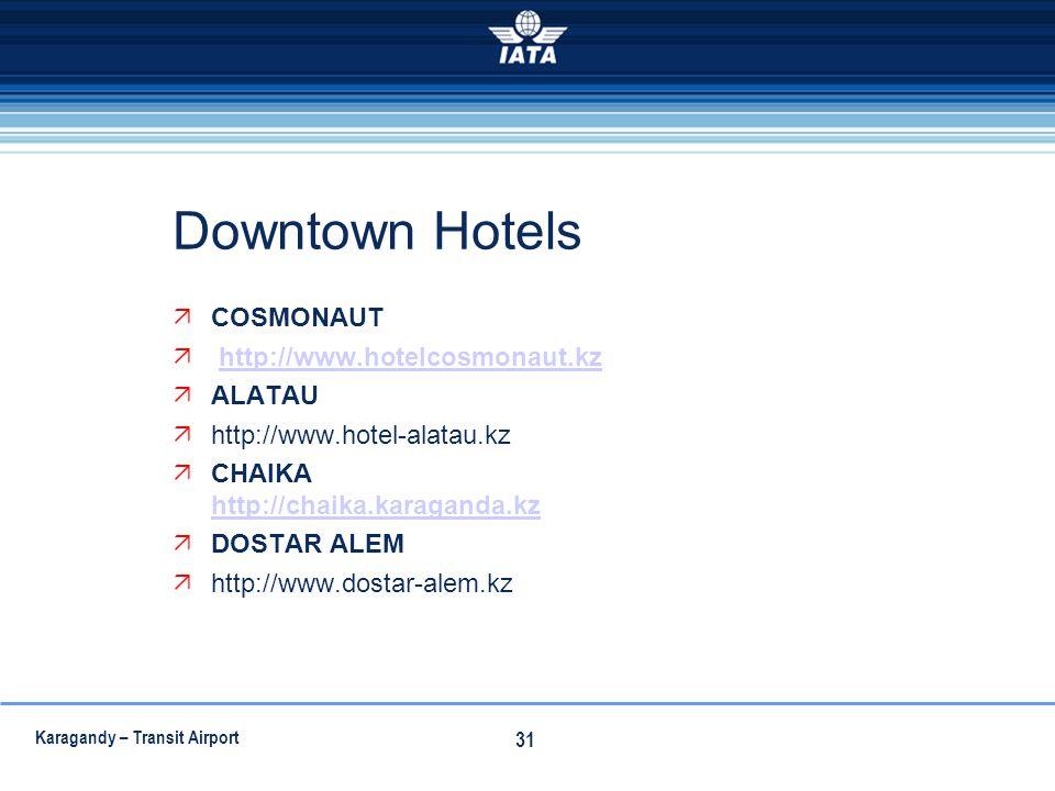 Downtown Hotels COSMONAUT http://www.hotelcosmonaut.kz ALATAU