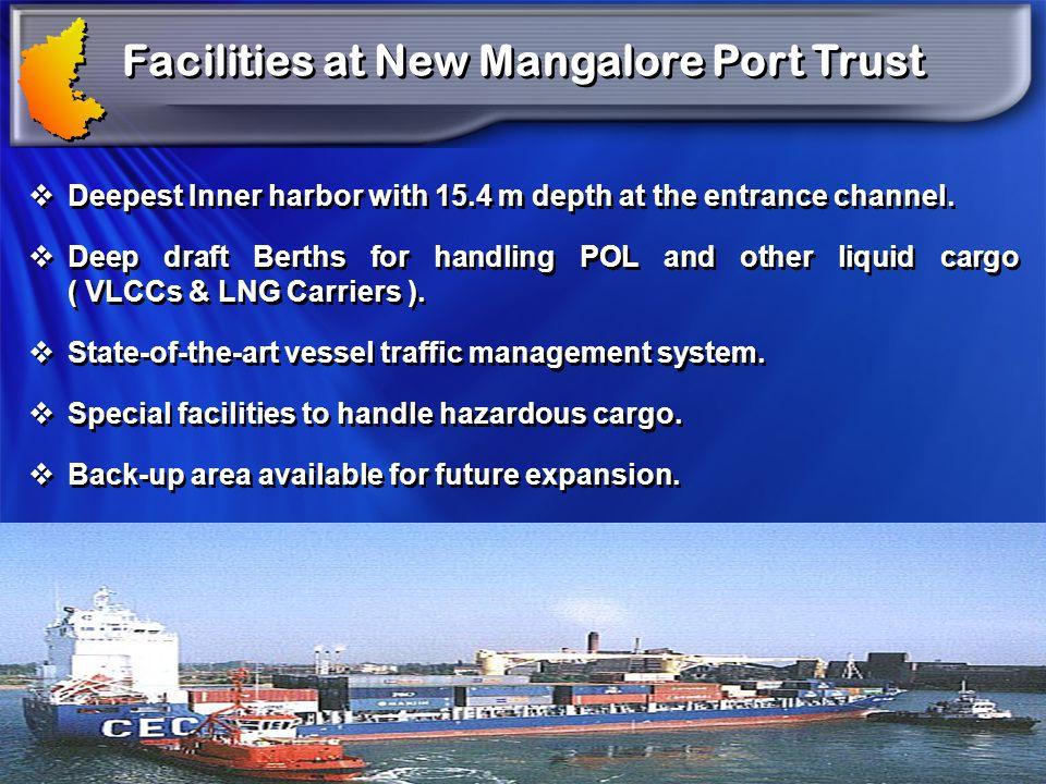 Facilities at New Mangalore Port Trust