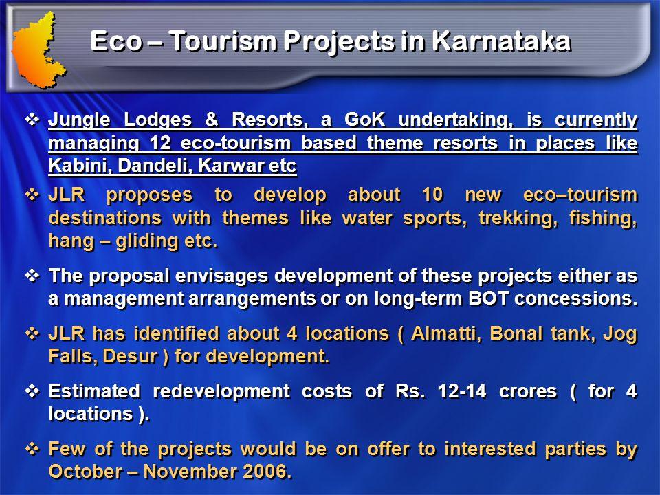 Eco – Tourism Projects in Karnataka