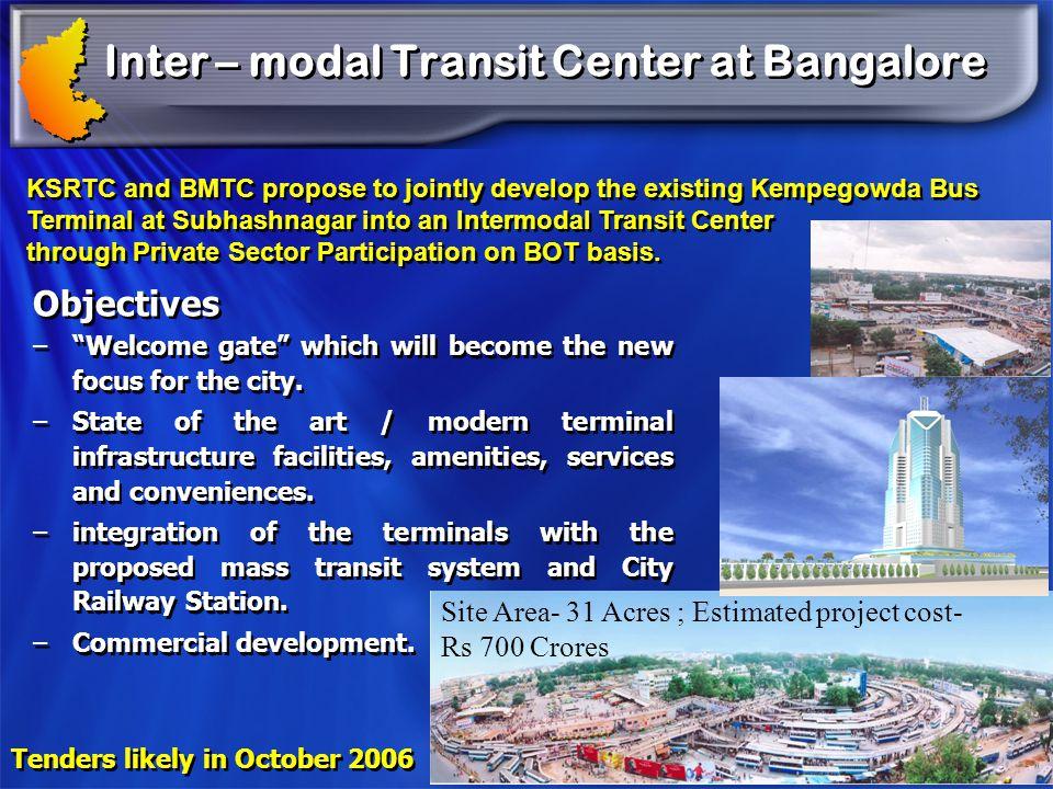 Inter – modal Transit Center at Bangalore