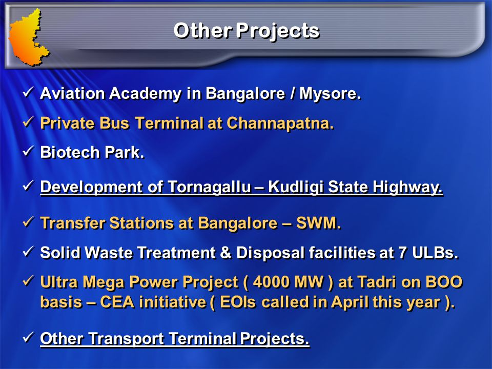 Other Projects Aviation Academy in Bangalore / Mysore.