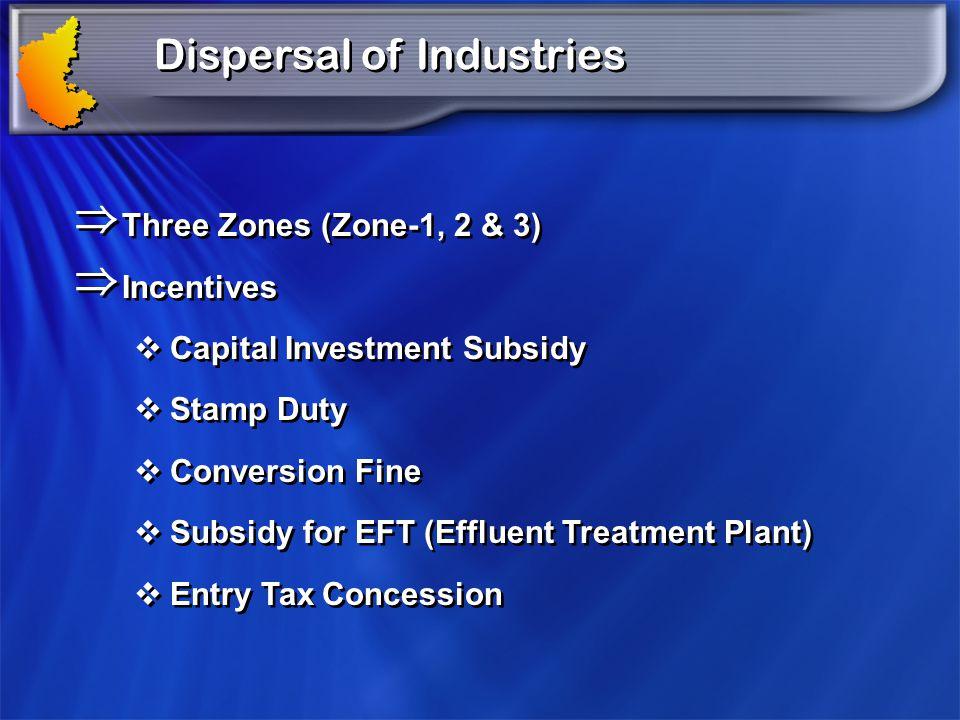 Dispersal of Industries