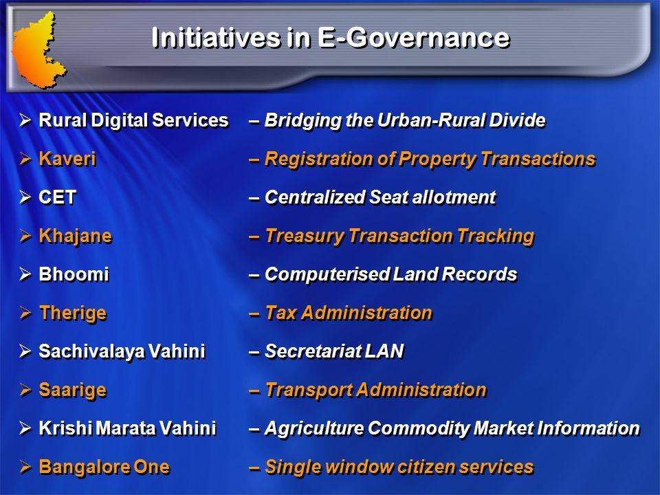 Initiatives in E-Governance