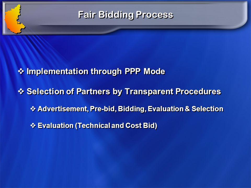 Fair Bidding Process Implementation through PPP Mode