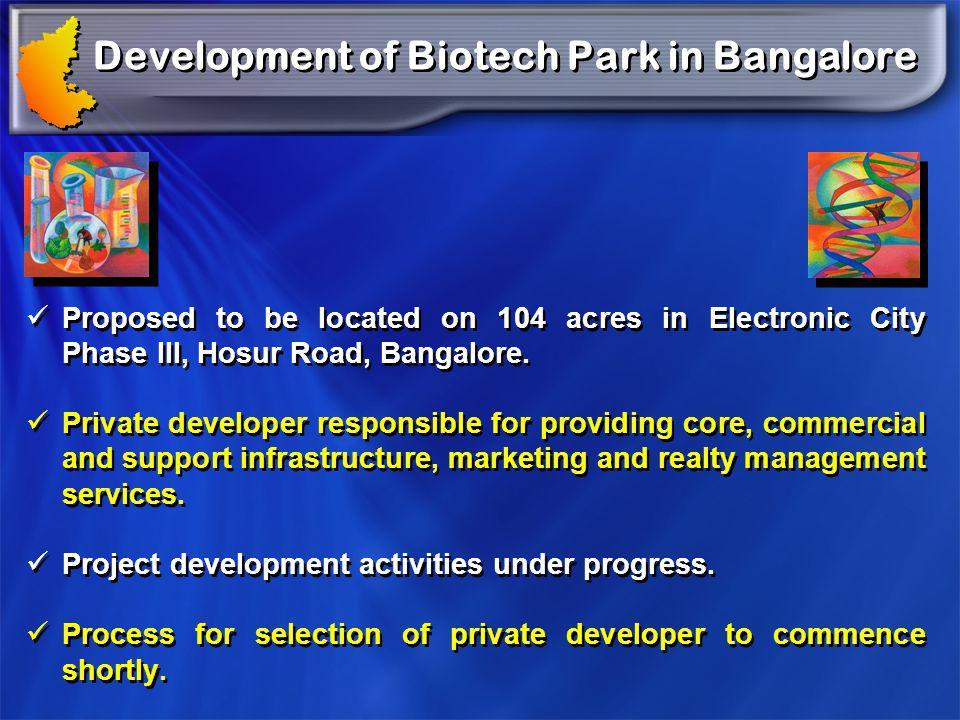 Development of Biotech Park in Bangalore