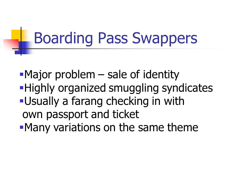 Boarding Pass Swappers
