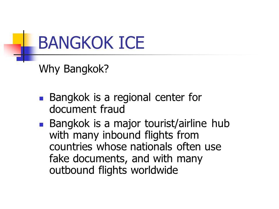 BANGKOK ICE Why Bangkok