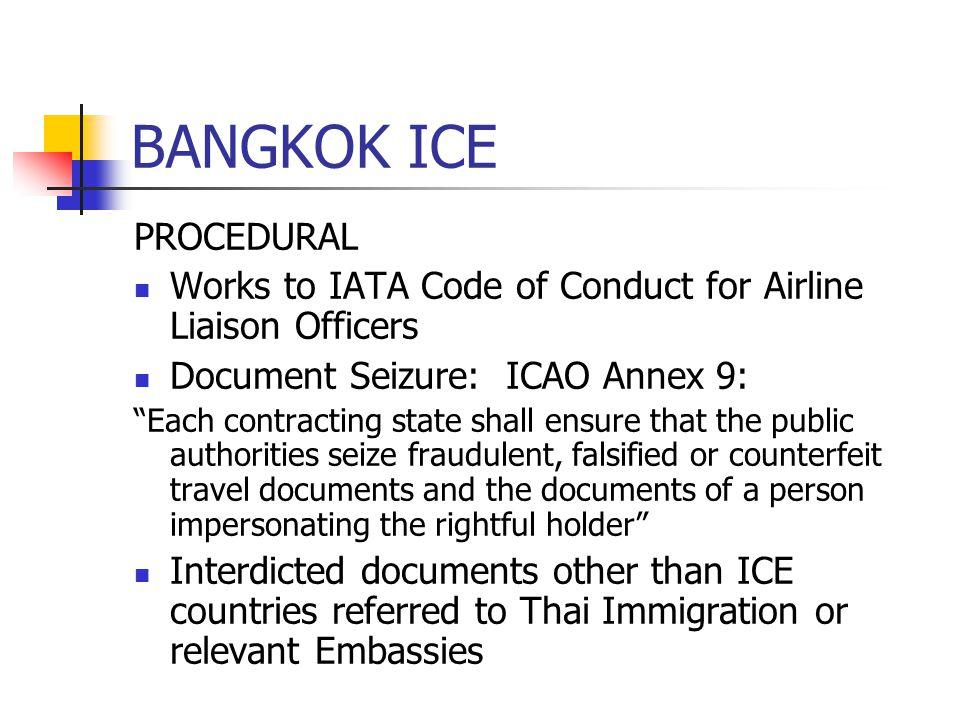 BANGKOK ICE PROCEDURAL