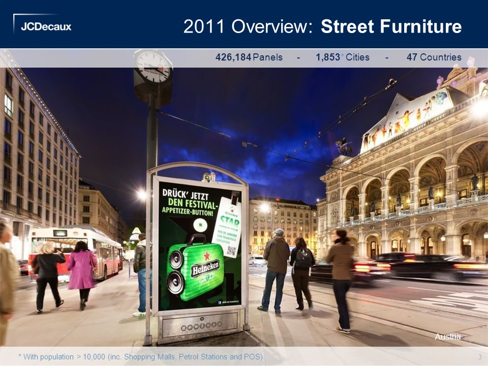 2011 Overview: Street Furniture