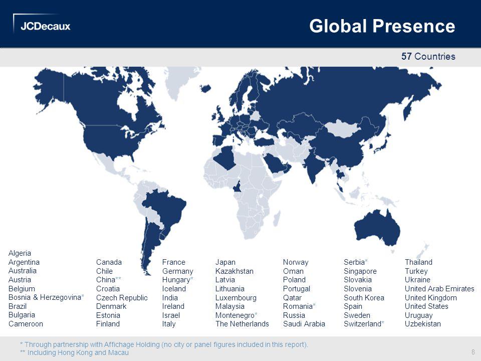 Global Presence 57 Countries Algeria Argentina Australia Austria