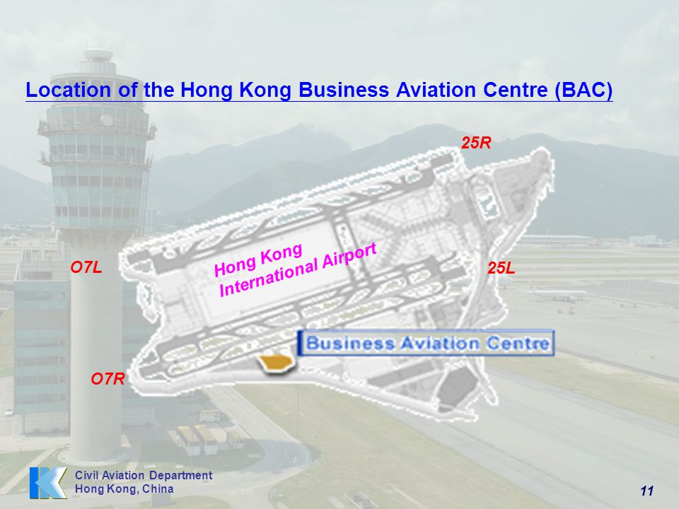 Location of the Hong Kong Business Aviation Centre (BAC)