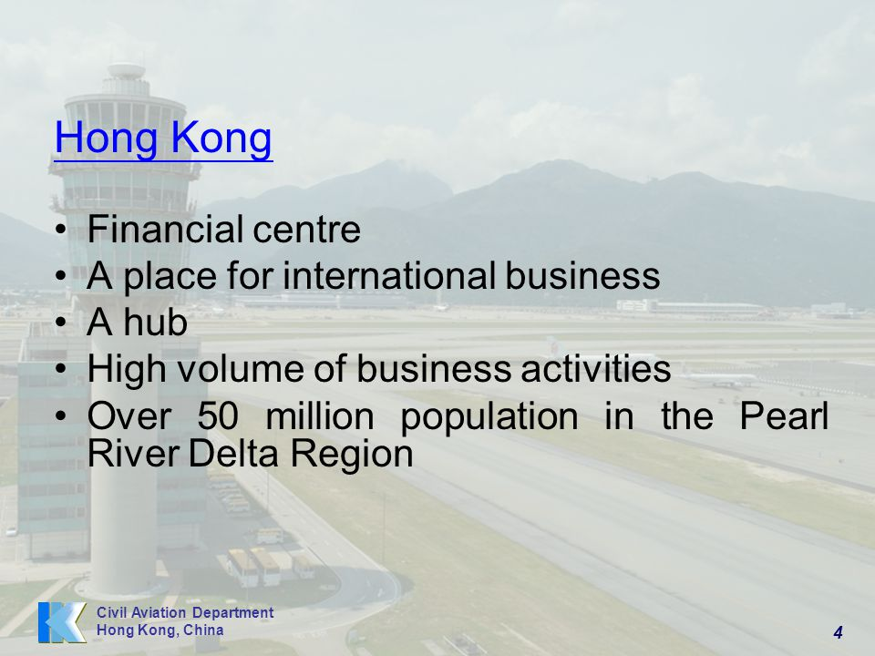 Hong Kong Financial centre A place for international business A hub