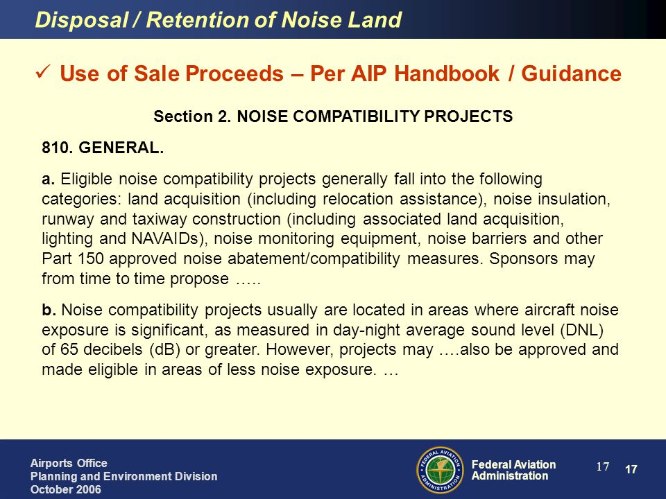 Section 2. NOISE COMPATIBILITY PROJECTS
