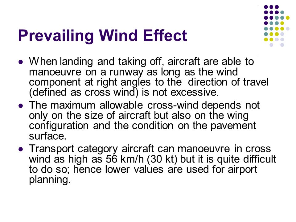 Prevailing Wind Effect