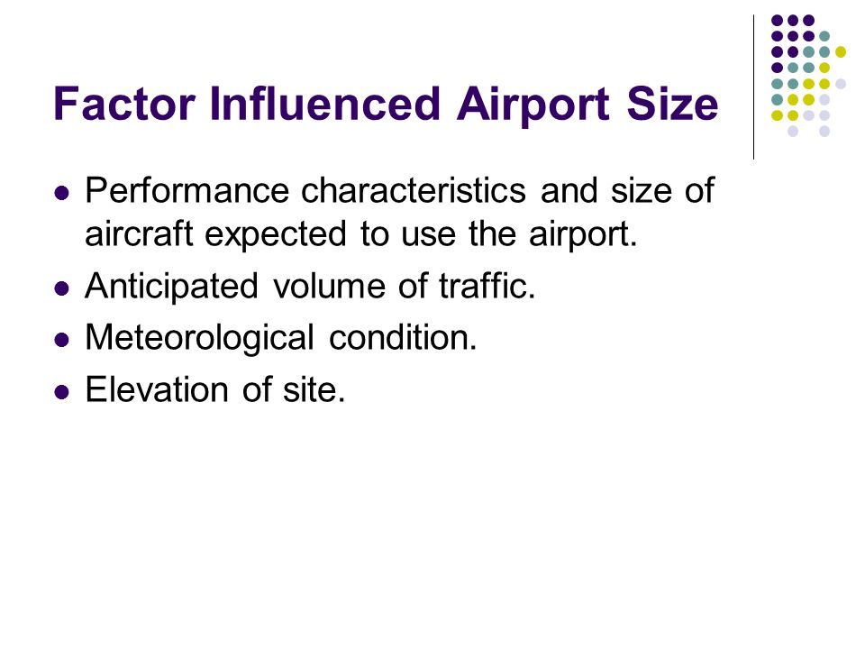 Factor Influenced Airport Size