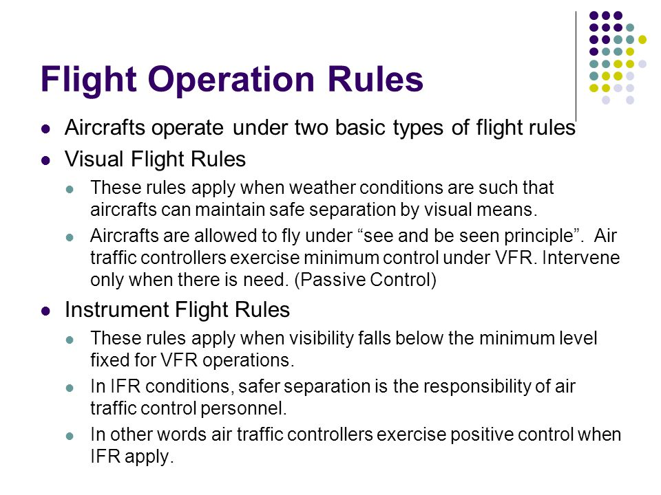 Flight Operation Rules