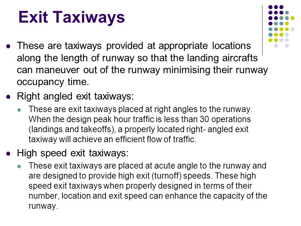 Exit Taxiways