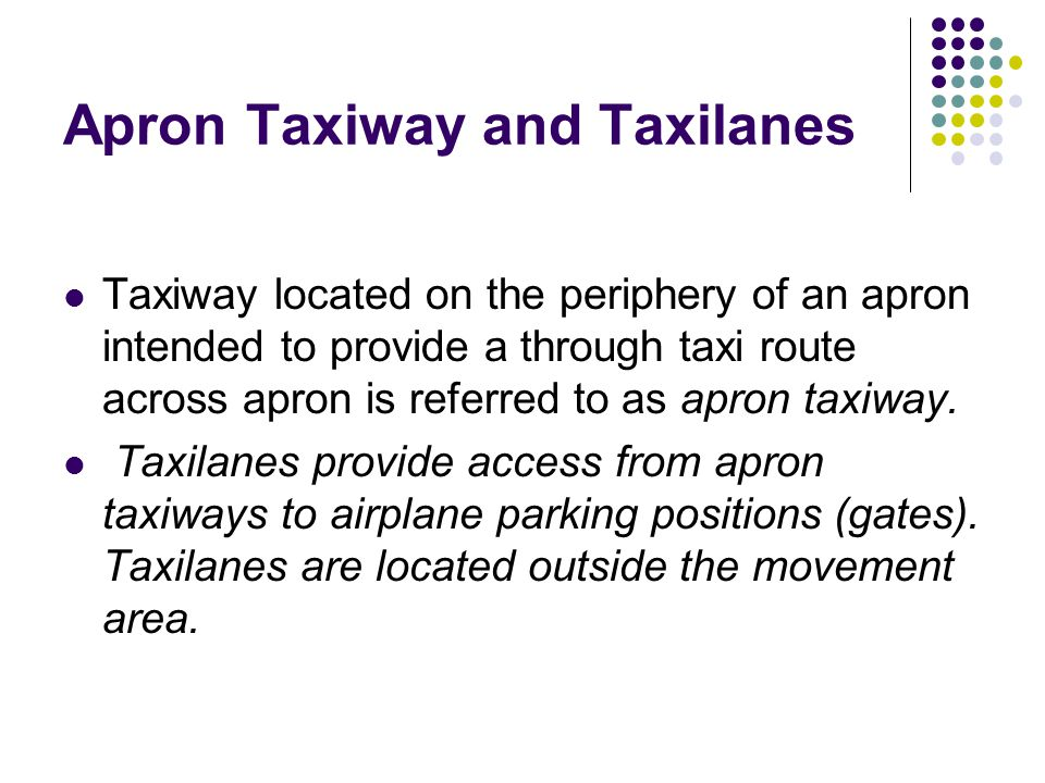 Apron Taxiway and Taxilanes