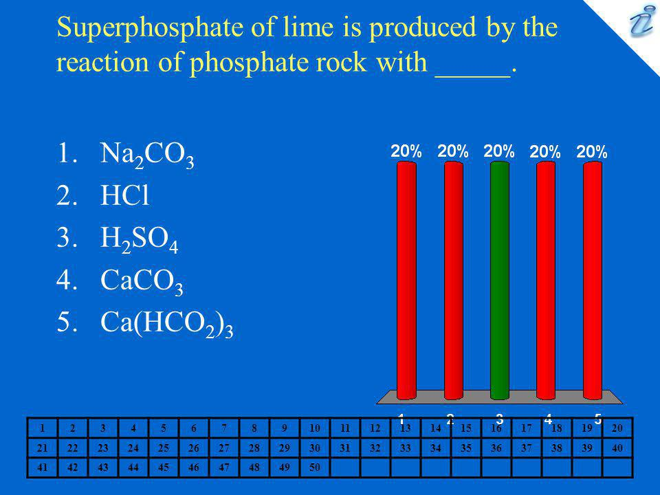 Superphosphate of lime is produced by the reaction of phosphate rock with _____.