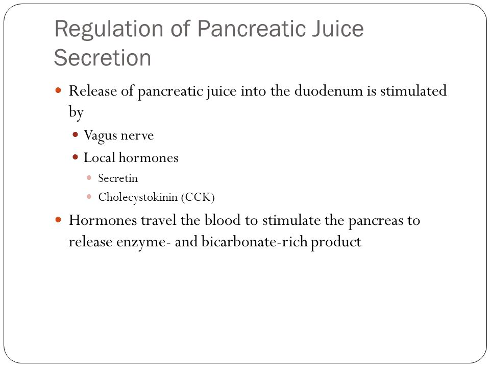 Regulation of Pancreatic Juice Secretion