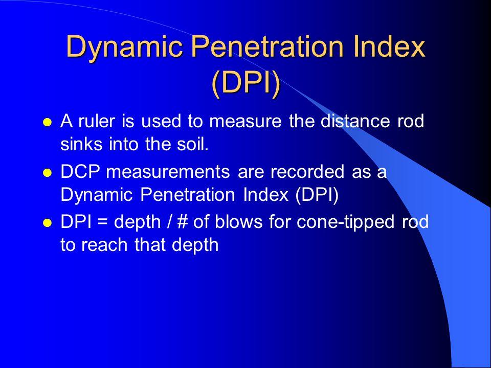 Dynamic Penetration Index (DPI)