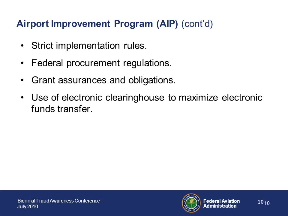 Airport Improvement Program (AIP) (cont'd)
