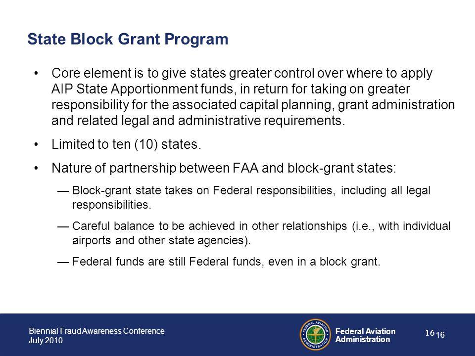 State Block Grant Program