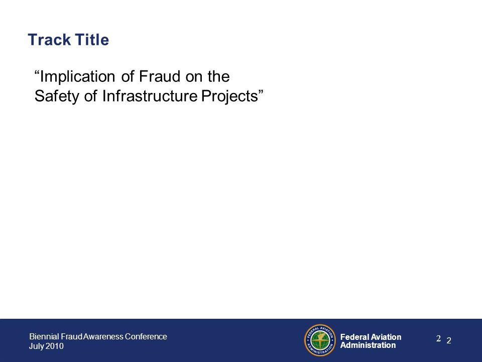 Track Title Implication of Fraud on the Safety of Infrastructure Projects