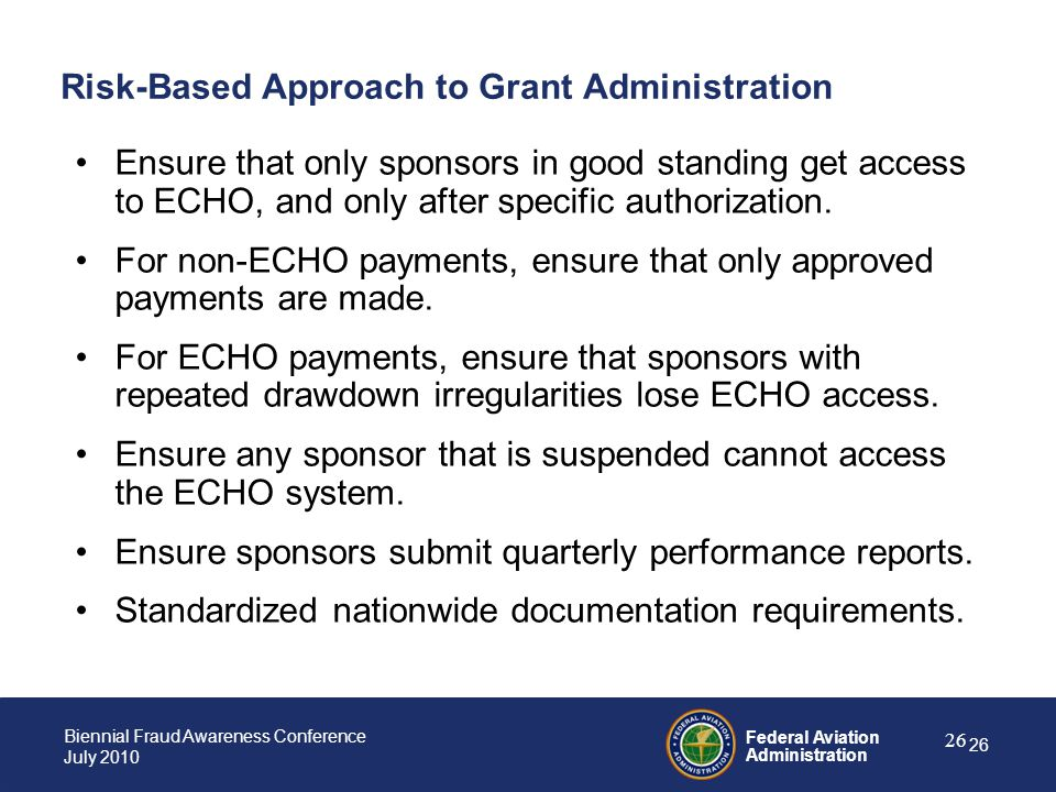 Risk-Based Approach to Grant Administration